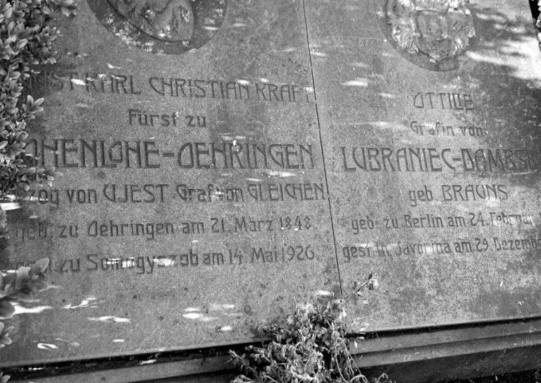 christian hohenlohe vysne hagy javorina pomnik